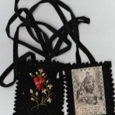 Antigüedades: ESCAPULARIO NUESTRA SEÑORA DEL CARMEN BORDADO. Lote 48538448