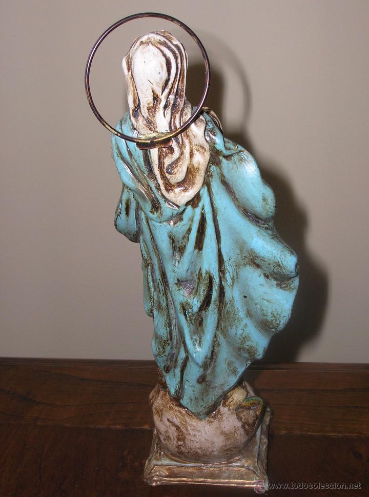 Antigüedades: VIRGEN INMACULADA EN ESCAYOLA. VER FOTOS - Foto 3 - 48539138