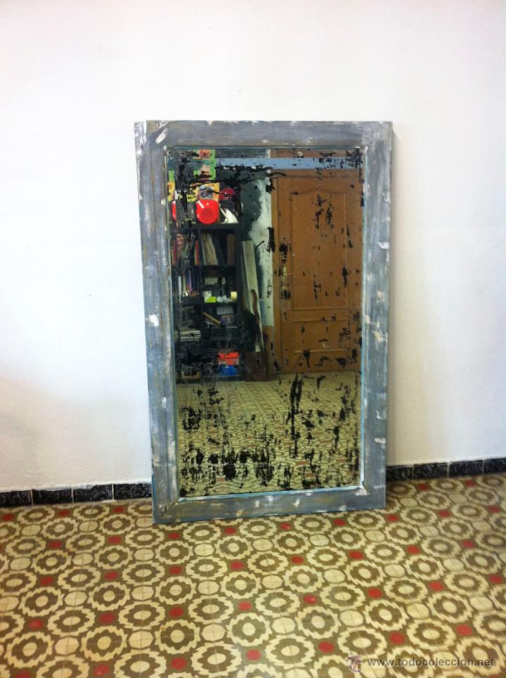 Antigüedades: antiguo espejo decapé - Foto 2 - 48558335