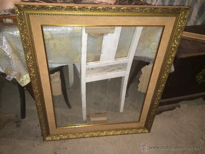 Antiguo marco cuadro dorado de gran tama o pa comprar for Marco cuadro antiguo