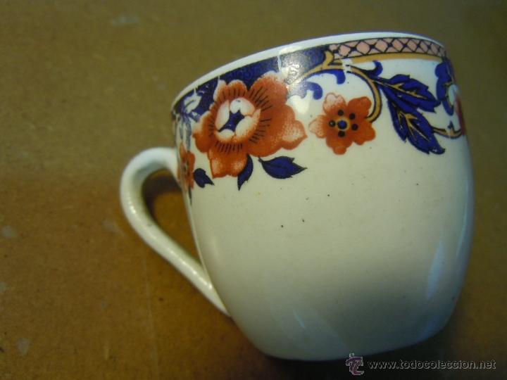 Antigüedades: TAZA CAFE CON SU PLATO DE LOZA DE SANJUAN DE AZNALFARACHE - Foto 3 - 48569888