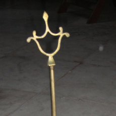 Antigüedades: ANTIGUA LAMPARA, LUMINARIA O CANDIL DE ACEITE. BRONCE. Lote 48575131