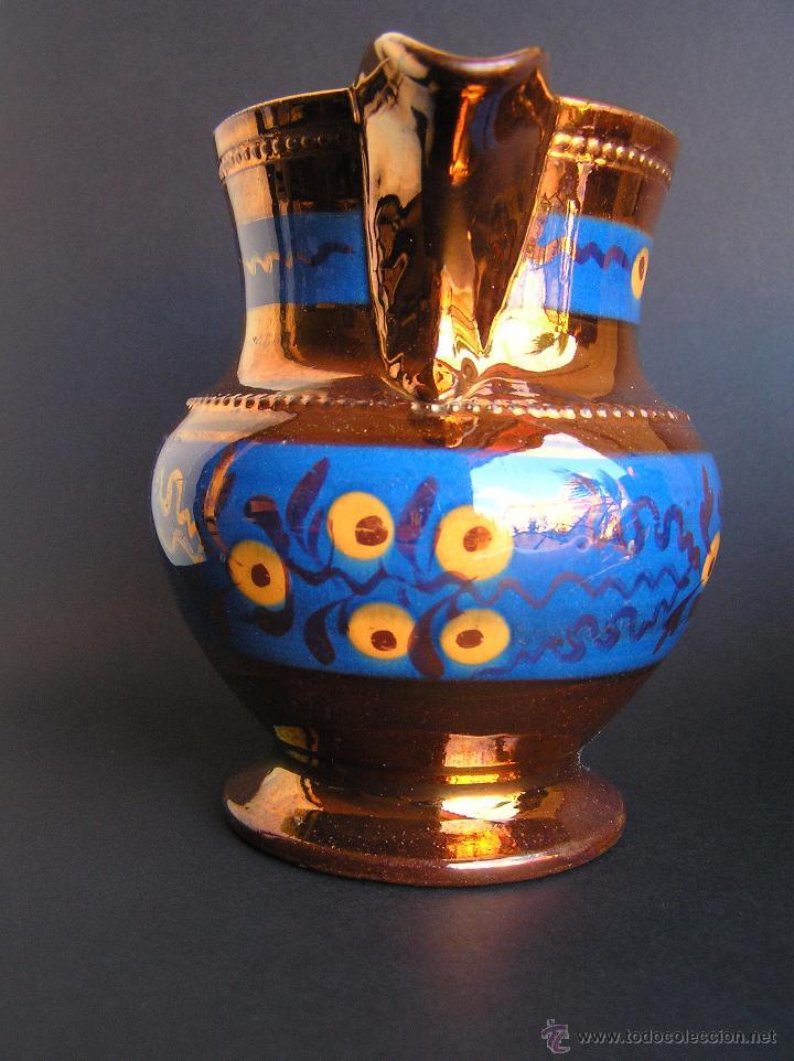Antigüedades: JARRAS BRISTOL DE REFLEJOS METÁLICOS. JUEGO DE DOS .SIGLO XIX. ESTUPENDAS. - Foto 3 - 48575557