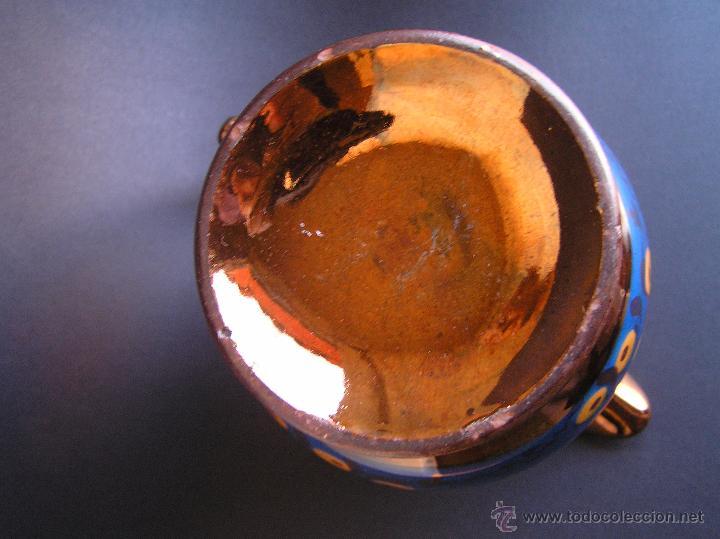 Antigüedades: JARRAS BRISTOL DE REFLEJOS METÁLICOS. JUEGO DE DOS .SIGLO XIX. ESTUPENDAS. - Foto 8 - 48575557