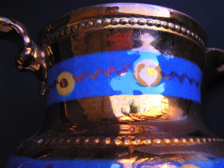 Antigüedades: JARRAS BRISTOL DE REFLEJOS METÁLICOS. JUEGO DE DOS .SIGLO XIX. ESTUPENDAS. - Foto 10 - 48575557