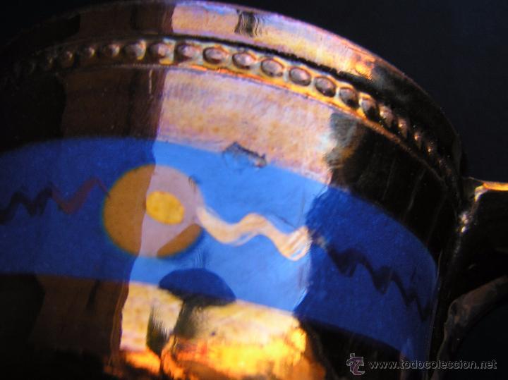 Antigüedades: JARRAS BRISTOL DE REFLEJOS METÁLICOS. JUEGO DE DOS .SIGLO XIX. ESTUPENDAS. - Foto 12 - 48575557