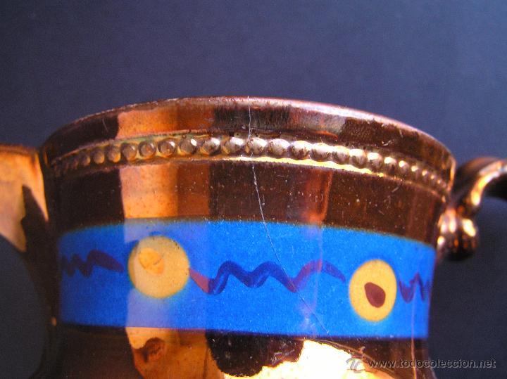 Antigüedades: JARRAS BRISTOL DE REFLEJOS METÁLICOS. JUEGO DE DOS .SIGLO XIX. ESTUPENDAS. - Foto 13 - 48575557