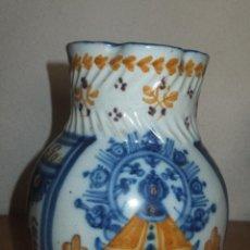 Antigüedades: JARRA TALAVERA VIRGEN DEL PRADO .AQUILINA PÉREZ GÓMEZ 1875. Lote 48579601