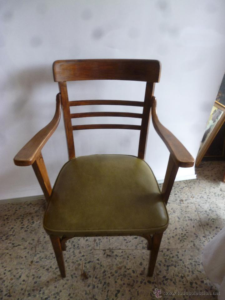 Silla con brazos de madera comprar sillas antiguas en todocoleccion 75030445 - Sillas de madera antiguas ...