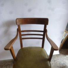 Antigüedades: SILLA CON BRAZOS DE MADERA . Lote 75030445