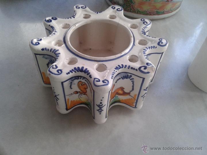 TINTERO DE CERÁMICA DE SEVILLA TRIANA. (Antigüedades - Porcelanas y Cerámicas - Triana)