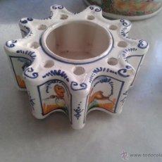 Antigüedades - TINTERO DE CERÁMICA DE SEVILLA TRIANA. - 48584872