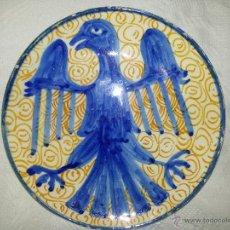 Antigüedades: SINGULAR Y MUY ANTIGUO PLATO CERÁMICA VALENCIANA?. Lote 48590662
