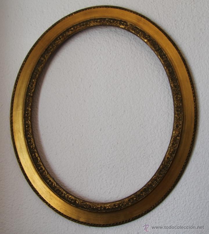marco ovalado de madera maciza dorado medidas e - Comprar Marcos ...