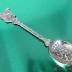 Antigüedades: CUCHARILLA PLATA-SOUVENIR-BÉLGICA-BRUJAS-12 CMS-PERFECTO ESTADO-VER FOTOS.. Lote 48594255