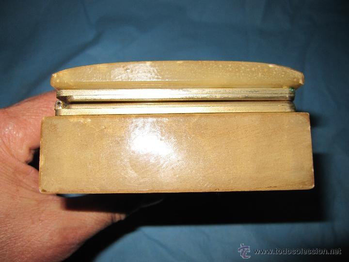 Antigüedades: ANTIGUO JOYERO DECORADO DE MARMOL O ALABASTRO - Foto 4 - 48595990