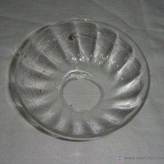 Antigüedades: REPUESTO LAMPARA. PLAFÓN O PLATO DE LAMPARA. CRISTAL. (10 CM DE DIÁMETRO). Lote 48609699