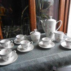 Antigüedades: ANTIGUO JUEGO DE CAFÉ. PORCELANA. SELLO. OXFORD. - FINE WERE - MADE IN SPAIN. Lote 48611037