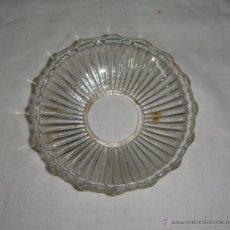 Antigüedades: REPUESTO LAMPARA. PLAFÓN O PLATO DE LAMPARA. CRISTAL. (11 CM). Lote 48614694