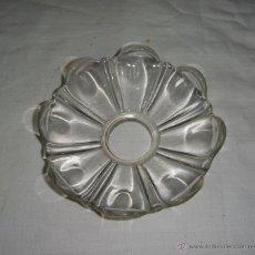 Antigüedades: REPUESTO LAMPARA. PLAFÓN O PLATO DE LAMPARA. CRISTAL. (10,5 CM). Lote 48614748