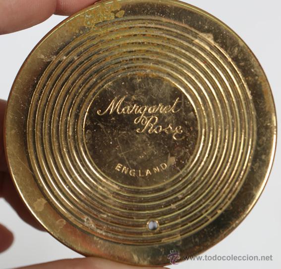 Antigüedades: Polvera Made in England Margaret Rose - Foto 4 - 48617577