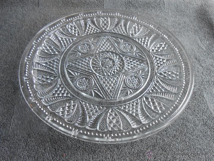 Antigüedades: ANTIGUO PLATO DE VIDRIO MOLDADO, POSIBLEMENTE SANTA LUCIA. CARTAGENA. 24CM - Foto 2 - 48619501