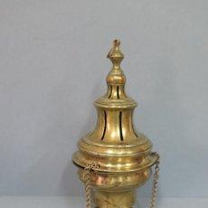 Antigüedades: MUY ANTIGUO INCENSARIO DE BRONCE. SIGLO XVIII-XIX. PRECIOSA PATINA. Lote 48627085