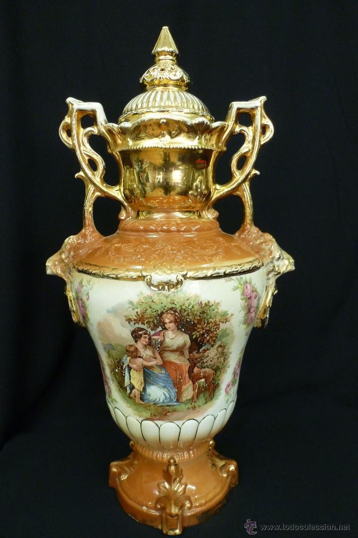 TIBOR DE LOZA INGLESA (Antigüedades - Porcelanas y Cerámicas - Inglesa, Bristol y Otros)