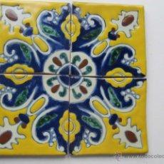 Antigüedades: AZULEJOS DE TALAVERA PUEBLA MÉXICO. Lote 48632303