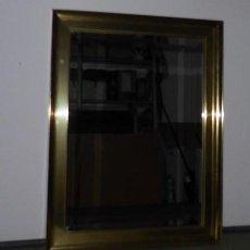 Antigüedades - Espejo artesanía indonesia marco metal dorado - 48632510