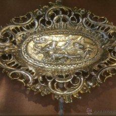 Antigüedades: ANTIGUA BANDEJA MODERNISTA.POSEIDON DIOS DEL MAR.FIRMADA.. Lote 48633420