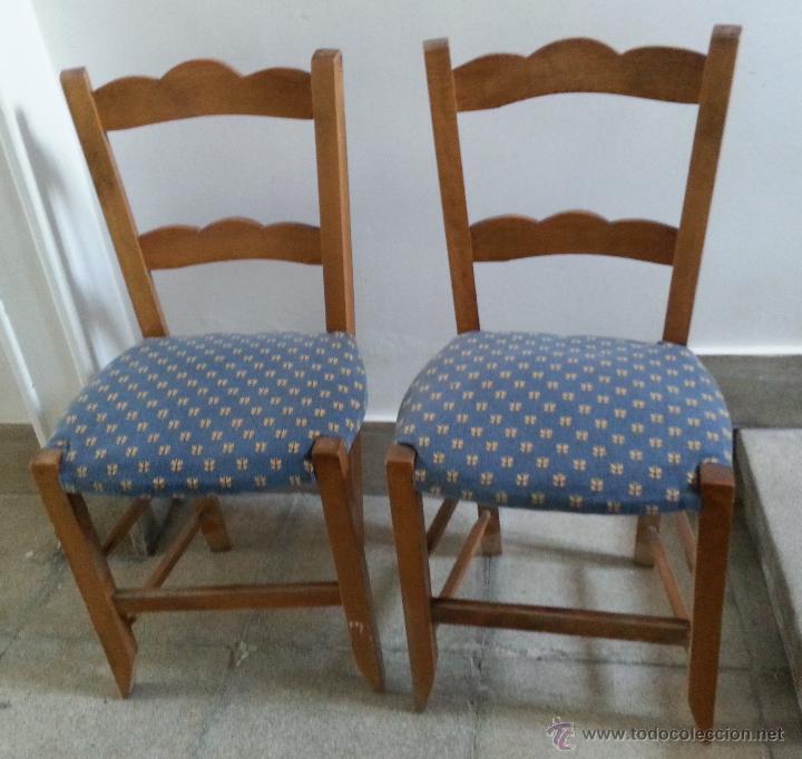 Dos sillas antiguas de estilo popular restaura comprar - Sillas antiguas restauradas ...