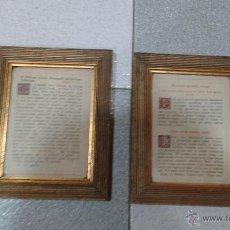 Antigüedades: 2 SACRAS DE MADERA DE PRINCIPIOS SIGLO XX, ESTADO EXCELENTE. Lote 48653133