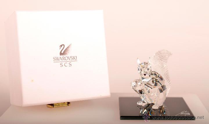 ARDILLA CONMEMORATIVA 10 ANIVERSARIO SOCIEDAD DE COLECCIONISTAS SWAROVSKI. 1997 (Antigüedades - Cristal y Vidrio - Swarovski)