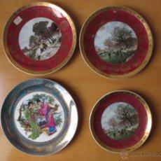 Antigüedades: LOTE DE 4 PLATOS DECORATIVOS PORCELANA GUILLEN. Lote 48664780