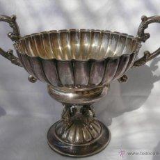Antigüedades: ELEGANTE CENTRO DE MESA EN PLATA O ALPACA PLATEADA. Lote 48666730