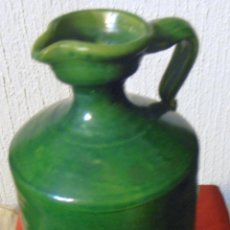 Antigüedades: JARRA, CANTARO, BOTELLON DE CERAMICA VIDRIADA, VERDE. Lote 48667033