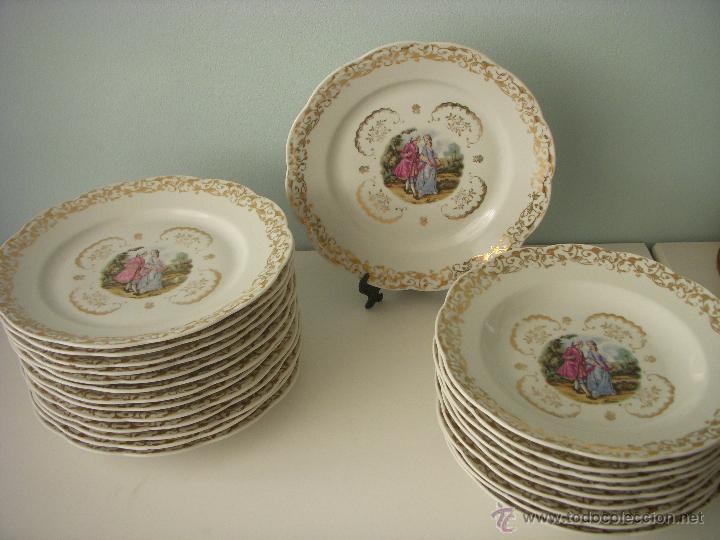 Bonita vajilla de porcelana francesa limoges s comprar for Vajilla de porcelana inglesa