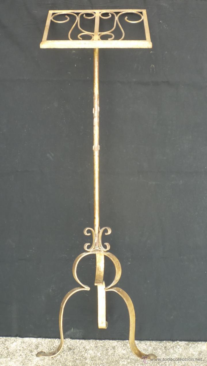 Atril en hierro con ba o dorado 128 164 cm comprar en todocoleccion 48687686 - Atril decoracion ...