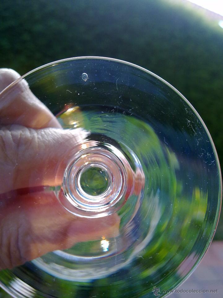 Antigüedades: Cristalería copas cristal soplado grabado S XIX - Foto 7 - 48691794