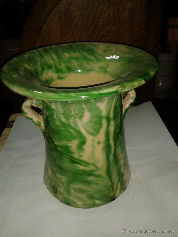 ORINAL, DON PEDRO DE BARRO VIDRIADO S XIX. (Antigüedades - Porcelanas y Cerámicas - Otras)