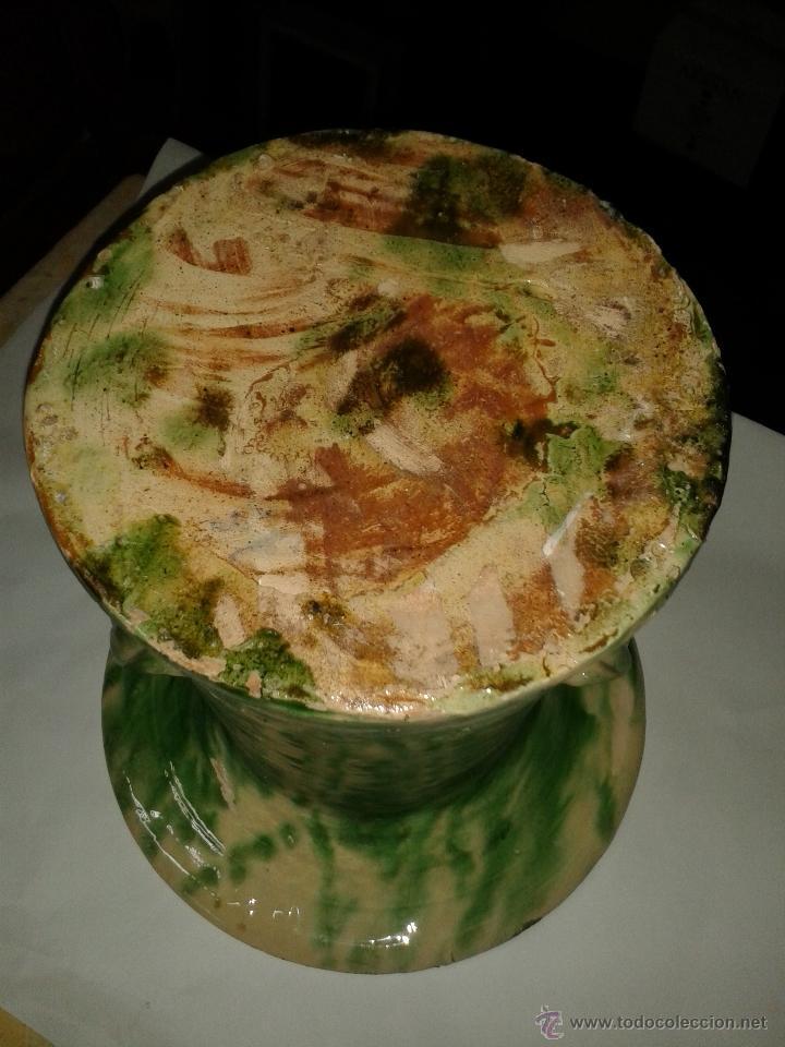 Antigüedades: orinal, don pedro de barro vidriado s XIX. - Foto 3 - 48697111