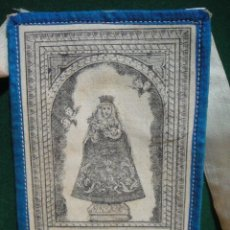 Antigüedades: ESCAPULARIO GRABADO SOBRE TELA NTA SRA DEL CAPITULO - VILLA DE TRASOVARES - TRASOBARES , ZARAGOZA. Lote 48703168