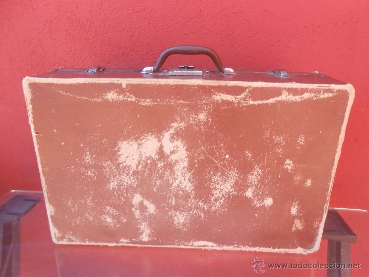 Antigüedades: ANTIGUA MALETA DE CARTÓN MARRÓN. - Foto 4 - 48708396
