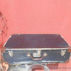 Antigüedades: ANTIGUA MALETA GRANDE DE CARTÓN. Lote 48709089