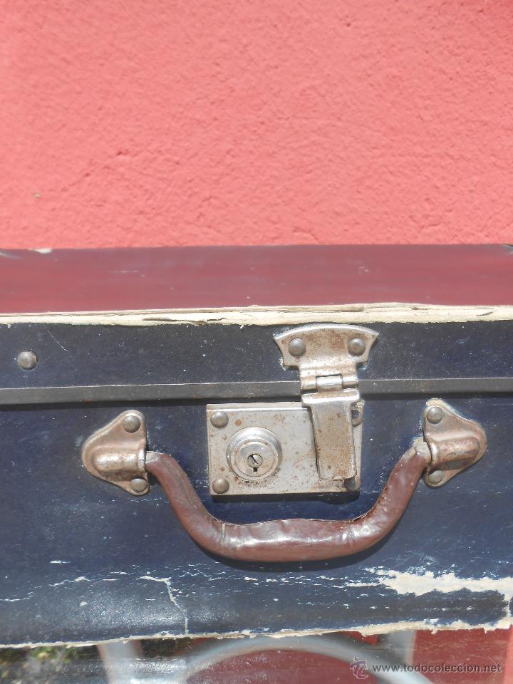 Antigüedades: ANTIGUA MALETA GRANDE DE CARTÓN - Foto 2 - 48709089