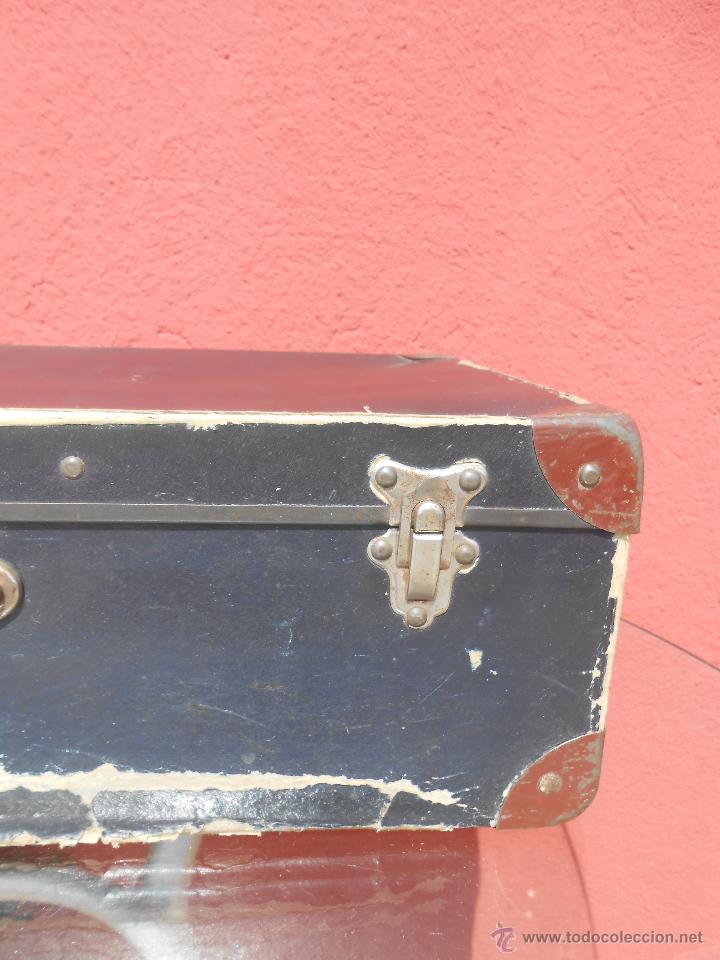 Antigüedades: ANTIGUA MALETA GRANDE DE CARTÓN - Foto 4 - 48709089