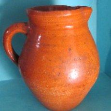 Antigüedades: JARRA DE BARRO COCIDO BARNIZADO. ALTURA 18 CM. Lote 48719212