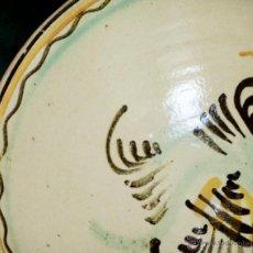 Antigüedades: ANTIGUO Y BONITO LEBRILLO / BARREÑO. PINTADO A MANO. CERÁMICA VIDRIADA. BARREÑO / CUENCO. Lote 84901602