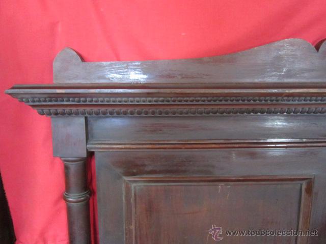 Antigüedades: Pareja de camas individuales en madera de caoba, para restaurar. - Foto 2 - 48723439